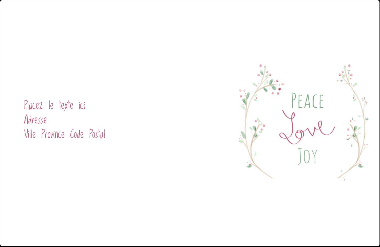 """8½"""" x 5½"""" Étiquettes d'expédition - Les gabarits Paix, amour et joie pour votre prochain projet créatif des Fêtes"""