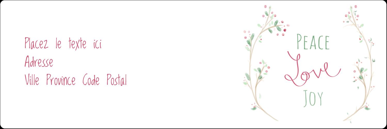 """8½"""" x 11"""" Intercalaires / Onglets - Les gabarits Paix, amour et joie pour votre prochain projet créatif des Fêtes"""