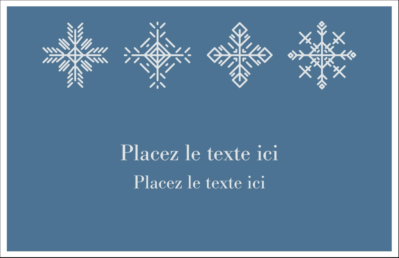 """5½"""" x 8½"""" Cartes de souhaits pliées en deux - Les gabarits Flocons de neige pour votre prochain projet des Fêtes"""