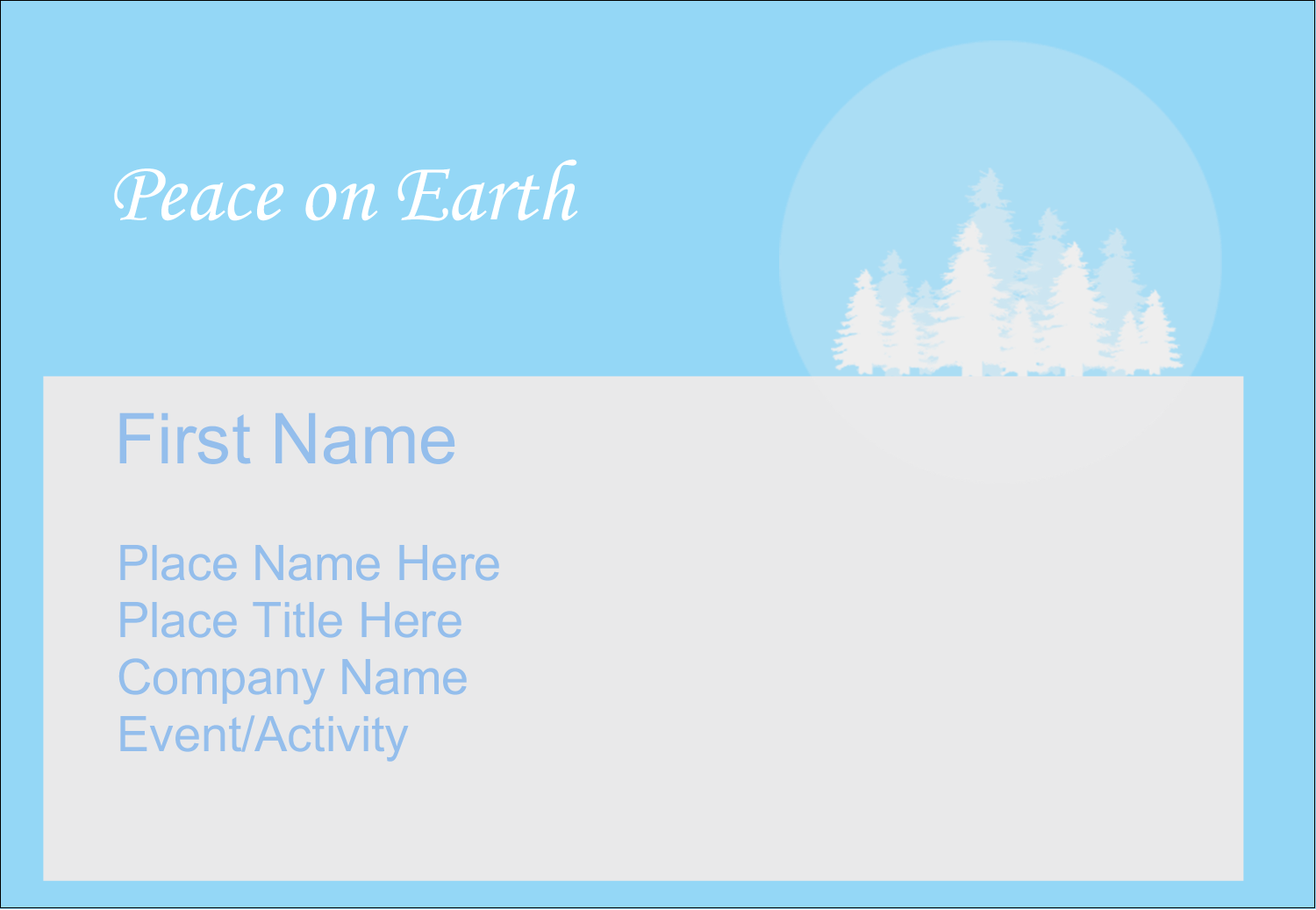 "3⅜"" x 2⅓"" Name Badge - Blue Forest"