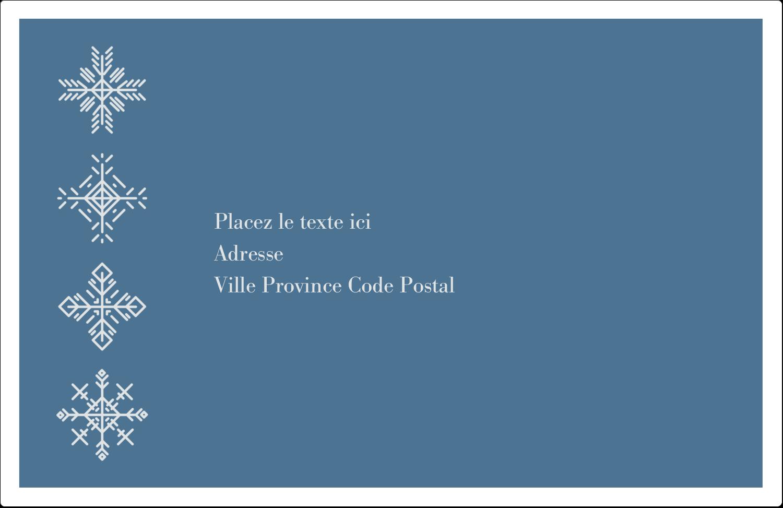 """8½"""" x 5½"""" Étiquettes d'expédition - Les gabarits Flocons de neige pour votre prochain projet des Fêtes"""