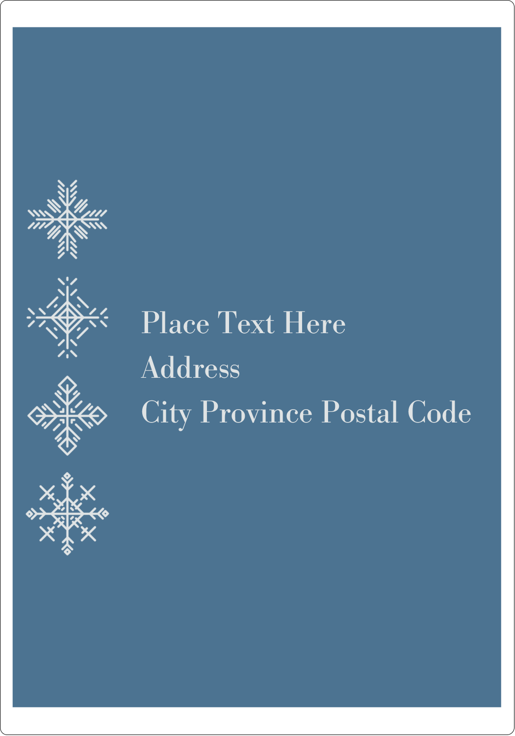 "5"" x 3½"" Shipping Label - Snowflakes"