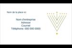 Hanoukka HanouNoël Carte d'affaire - gabarit prédéfini. <br/>Utilisez notre logiciel Avery Design & Print Online pour personnaliser facilement la conception.