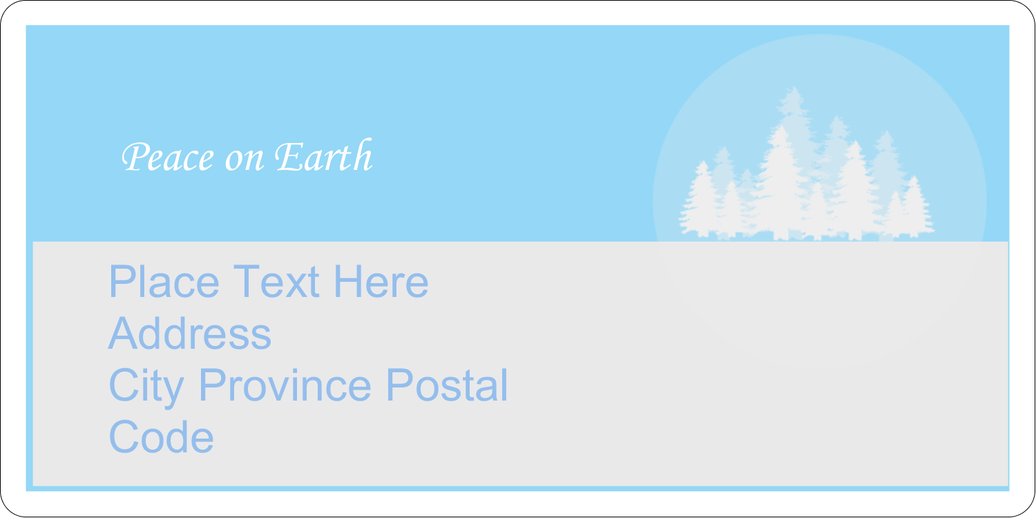 "2"" x 4"" Shipping Label - Blue Forest"