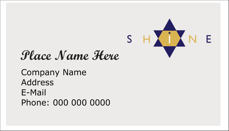 "2"" x 3½"" Business Card - Hanukkah Shine"