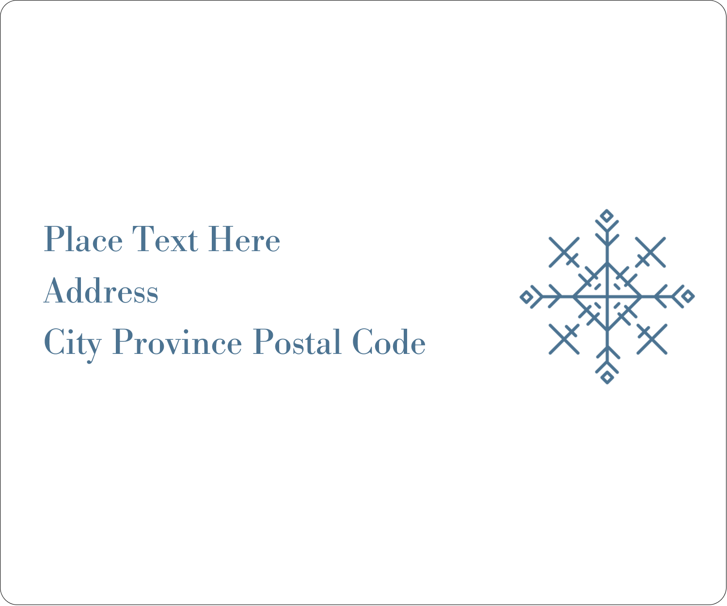 "3⅓"" x 4"" Shipping Label - Snowflakes"