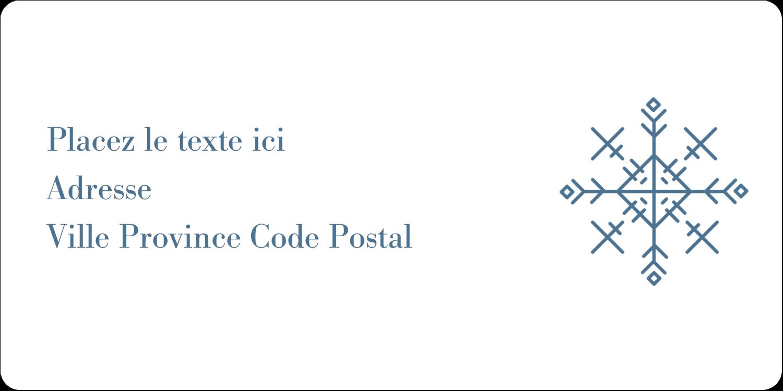"""3-7/16"""" x ⅔"""" Étiquettes de classement écologiques - Les gabarits Flocons de neige pour votre prochain projet des Fêtes"""
