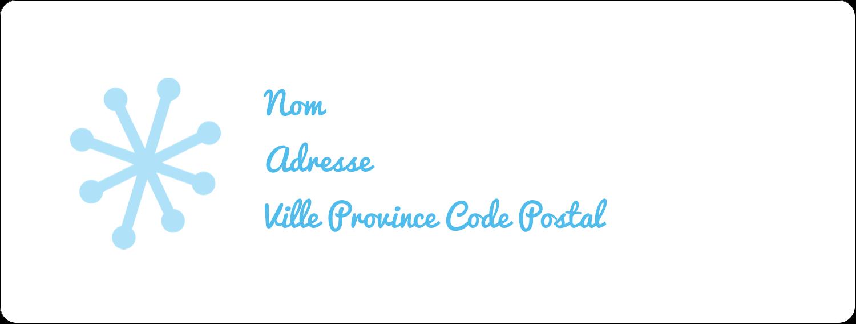 """1"""" x 2⅝"""" Étiquettes d'adresse - Les gabarits Pays des merveilles hivernales rétro pour votre prochain projet créatif"""