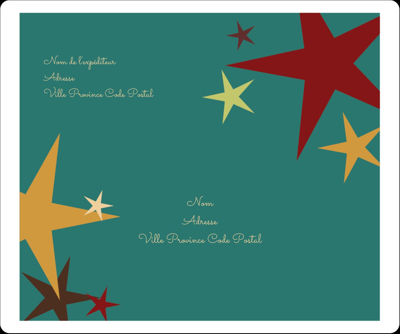 """½"""" x 1¾"""" Étiquettes D'Adresse - Étoiles du Nouvel An"""