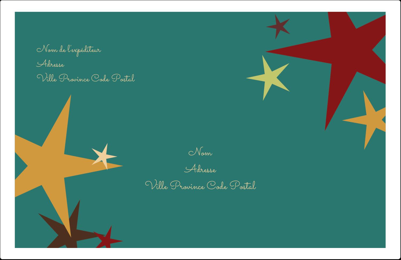 """8½"""" x 5½"""" Étiquettes d'expédition - Étoiles du Nouvel An"""