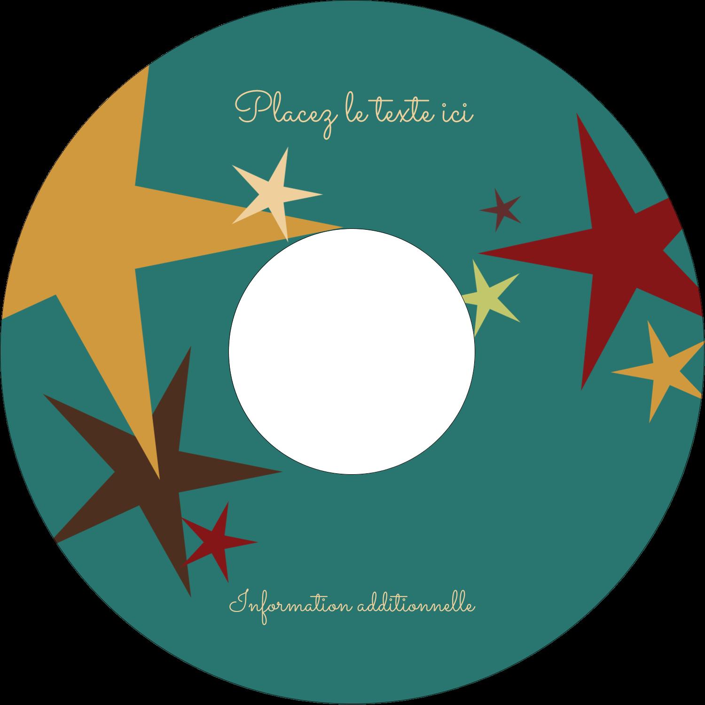 """⅔"""" x 3-7/16"""" Étiquettes de classement - Étoiles du Nouvel An"""