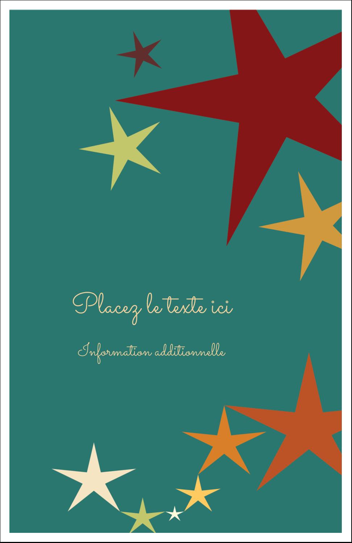 """8½"""" x 5"""" Cartes Et Articles D'Artisanat Imprimables - Étoiles du Nouvel An"""