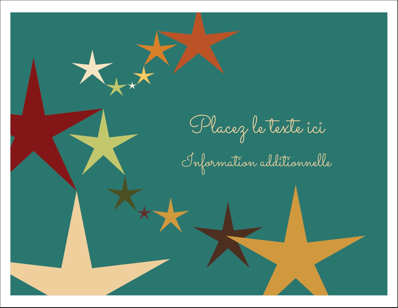 """8½"""" x 11"""" Cartes Et Articles D'Artisanat Imprimables - Étoiles du Nouvel An"""