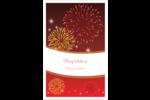 Feux d'artifice rouges du Nouvel An Reliures - gabarit prédéfini. <br/>Utilisez notre logiciel Avery Design & Print Online pour personnaliser facilement la conception.