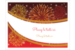 Feux d'artifice rouges du Nouvel An Cartes Et Articles D'Artisanat Imprimables - gabarit prédéfini. <br/>Utilisez notre logiciel Avery Design & Print Online pour personnaliser facilement la conception.
