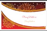 Feux d'artifice rouges du Nouvel An Cartes de souhaits pliées en deux - gabarit prédéfini. <br/>Utilisez notre logiciel Avery Design & Print Online pour personnaliser facilement la conception.