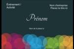 Lumières du Nouvel An  Étiquettes à codage couleur - gabarit prédéfini. <br/>Utilisez notre logiciel Avery Design & Print Online pour personnaliser facilement la conception.