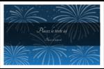 Feux d'artifice bleus du Nouvel An Cartes de souhaits pliées en deux - gabarit prédéfini. <br/>Utilisez notre logiciel Avery Design & Print Online pour personnaliser facilement la conception.