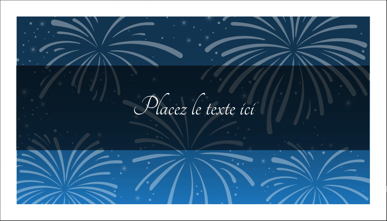 """2"""" x 3½"""" Carte d'affaire - Feux d'artifice bleus du Nouvel An"""