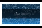 Feux d'artifice bleus du Nouvel An Carte d'affaire - gabarit prédéfini. <br/>Utilisez notre logiciel Avery Design & Print Online pour personnaliser facilement la conception.