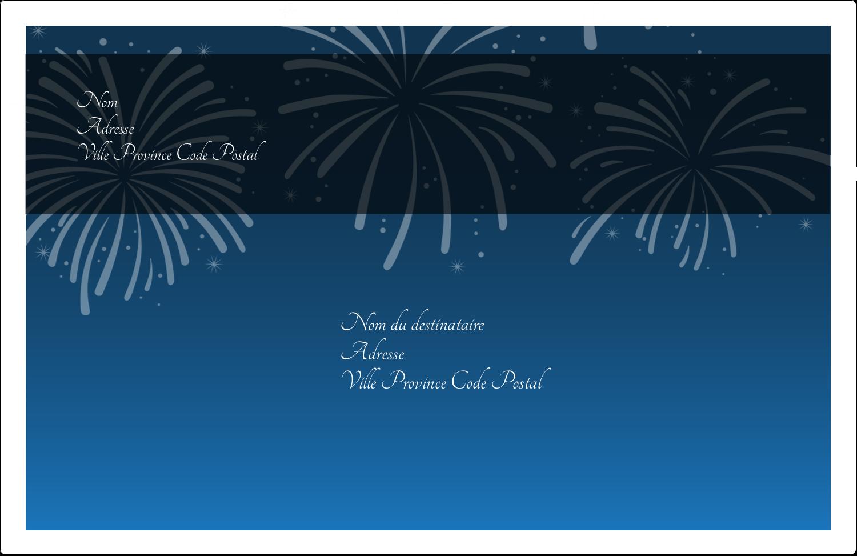 """8½"""" x 5½"""" Étiquettes d'expédition - Feux d'artifice bleus du Nouvel An"""