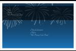 Feux d'artifice bleus du Nouvel An Étiquettes d'expédition - gabarit prédéfini. <br/>Utilisez notre logiciel Avery Design & Print Online pour personnaliser facilement la conception.