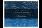 Feux d'artifice bleus du Nouvel An Cartes Et Articles D'Artisanat Imprimables - gabarit prédéfini. <br/>Utilisez notre logiciel Avery Design & Print Online pour personnaliser facilement la conception.