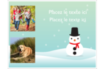 Petit bonhomme de neige Cartes Et Articles D'Artisanat Imprimables - gabarit prédéfini. <br/>Utilisez notre logiciel Avery Design & Print Online pour personnaliser facilement la conception.