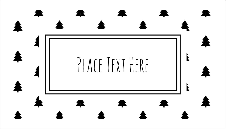 "2"" x 3½"" Business Card - Black White Pattern Tree"