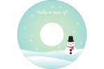 Petit bonhomme de neige Étiquettes Pour Médias - gabarit prédéfini. <br/>Utilisez notre logiciel Avery Design & Print Online pour personnaliser facilement la conception.