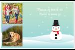 Petit bonhomme de neige Cartes de souhaits pliées en deux - gabarit prédéfini. <br/>Utilisez notre logiciel Avery Design & Print Online pour personnaliser facilement la conception.
