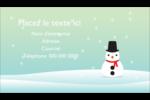 Petit bonhomme de neige Carte d'affaire - gabarit prédéfini. <br/>Utilisez notre logiciel Avery Design & Print Online pour personnaliser facilement la conception.