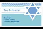 Étoile de Hanoukka Carte d'affaire - gabarit prédéfini. <br/>Utilisez notre logiciel Avery Design & Print Online pour personnaliser facilement la conception.