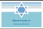 Étoile de Hanoukka Cartes de souhaits pliées en deux - gabarit prédéfini. <br/>Utilisez notre logiciel Avery Design & Print Online pour personnaliser facilement la conception.