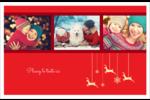 Décor de renne Cartes de souhaits pliées en deux - gabarit prédéfini. <br/>Utilisez notre logiciel Avery Design & Print Online pour personnaliser facilement la conception.
