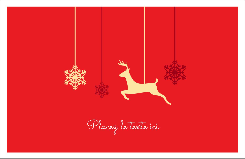 """5½"""" x 8½"""" Cartes de souhaits pliées en deux - Décor de renne"""