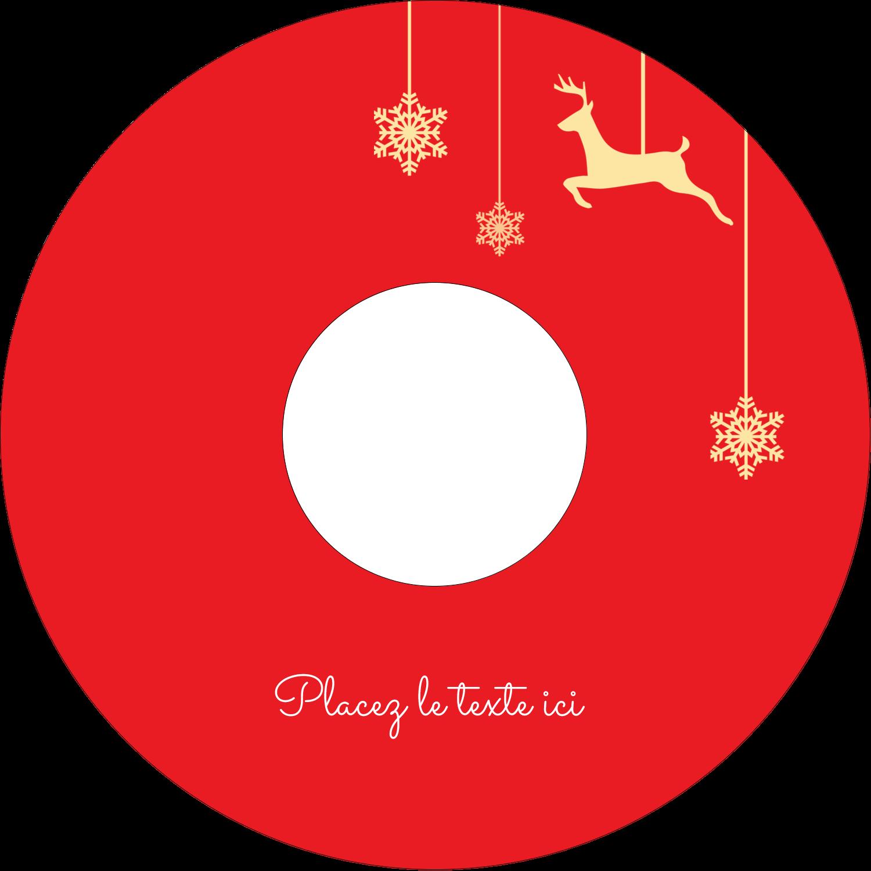CD/DVD Étiquettes Pour Médias - Décor de renne