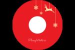 Décor de renne Étiquettes Pour Médias - gabarit prédéfini. <br/>Utilisez notre logiciel Avery Design & Print Online pour personnaliser facilement la conception.