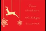 Décor de renne Étiquettes à codage couleur - gabarit prédéfini. <br/>Utilisez notre logiciel Avery Design & Print Online pour personnaliser facilement la conception.