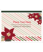 Custom projects feel decidedly festive with pre-designed Poinsettia Stripes templates.