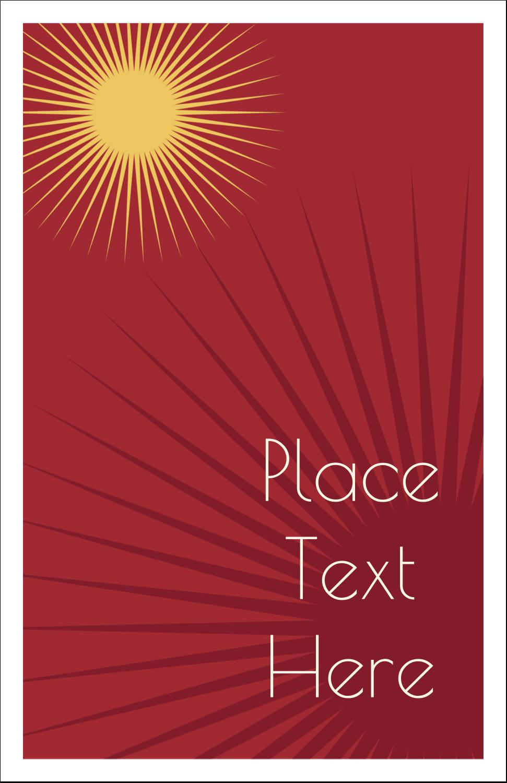"""5"""" x 8½"""" Half Fold Card - New Year Suns"""