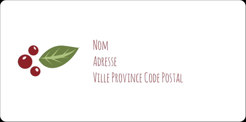 """3-7/16"""" x ⅔"""" Étiquettes de classement écologiques - Les gabarits Guirlande pour votre prochain projet des Fêtes"""