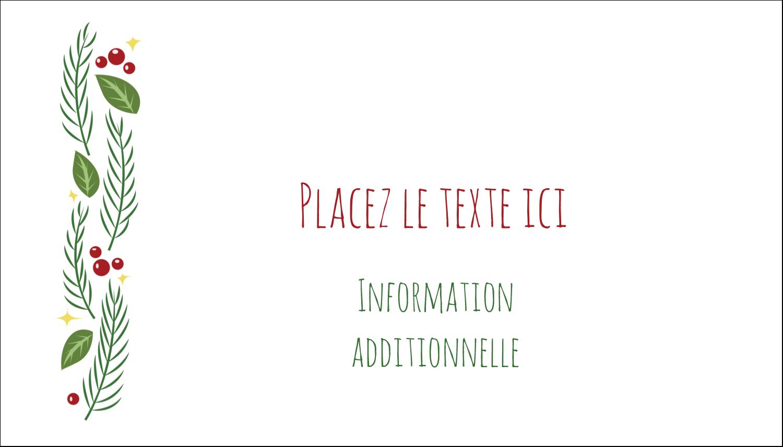 """2"""" x 3½"""" Carte d'affaire - Les gabarits Guirlande pour votre prochain projet des Fêtes"""