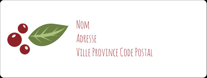 """1"""" x 2⅝"""" Étiquettes d'adresse - Les gabarits Guirlande pour votre prochain projet des Fêtes"""