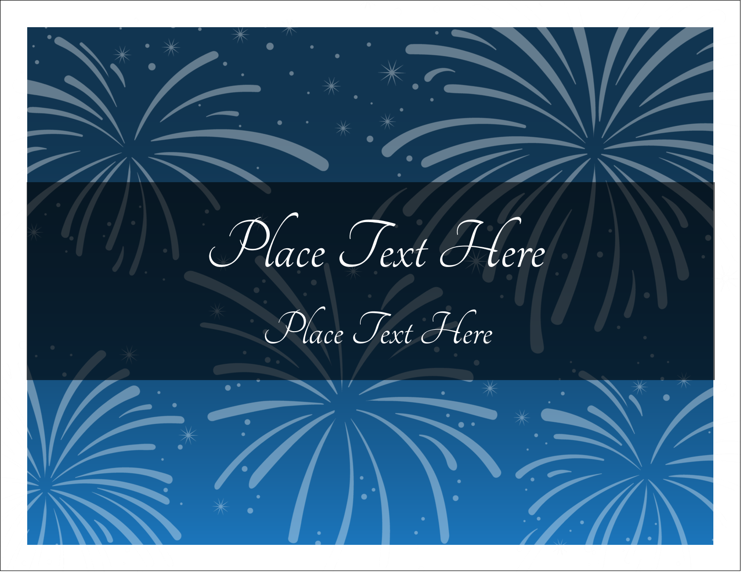 "5½"" x 4¼"" Note Card - New Year Blue Fireworks"