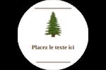 Arbre de la forêt Étiquettes Voyantes - gabarit prédéfini. <br/>Utilisez notre logiciel Avery Design & Print Online pour personnaliser facilement la conception.