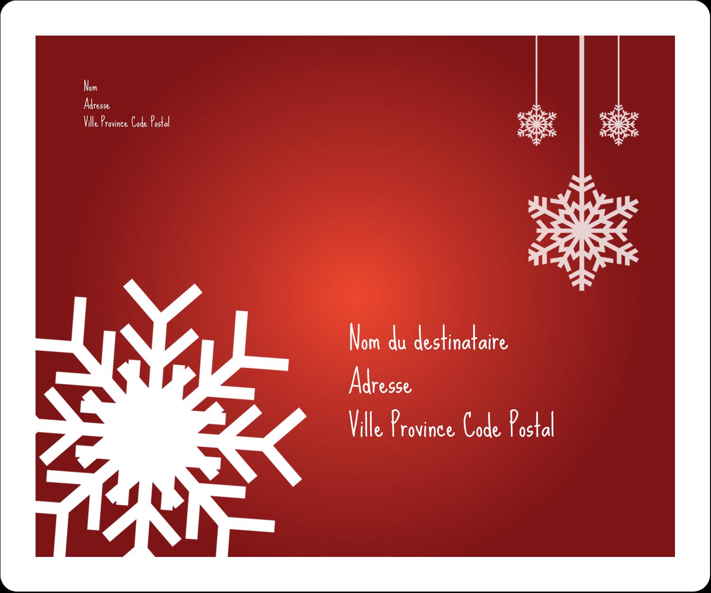 """½"""" x 1¾"""" Étiquettes D'Adresse - Les gabarits Flocons de neige en feutre pour votre prochain projet des Fêtes"""