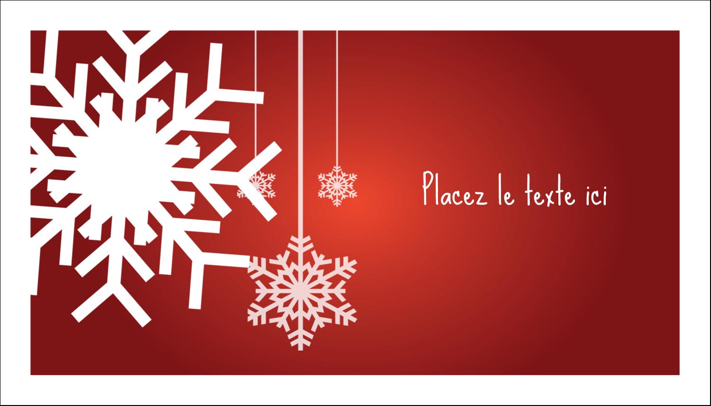 """2"""" x 3½"""" Carte d'affaire - Les gabarits Flocons de neige en feutre pour votre prochain projet des Fêtes"""
