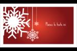 Les gabarits Flocons de neige en feutre pour votre prochain projet des Fêtes Carte d'affaire - gabarit prédéfini. <br/>Utilisez notre logiciel Avery Design & Print Online pour personnaliser facilement la conception.