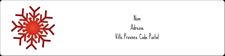 """1"""" x 4"""" Étiquettes d'adresse - Les gabarits Flocons de neige en feutre pour votre prochain projet des Fêtes"""